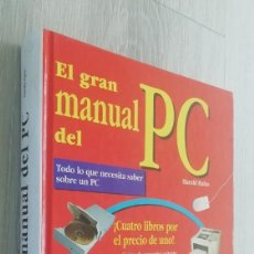 Libros de segunda mano: EL GRAN MANUAL DEL PC - HARALD HAHN - 1997. Lote 157008130
