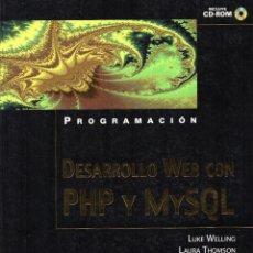 Libros de segunda mano: PROGRAMACIÓN. DESARROLLO WEB CON PHP Y MYSQL. INCLUYE CD-ROM. ANAYA MULTIMEDIA. Lote 157083602