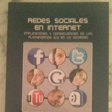 Libros de segunda mano: REDES SOCIALES EN INTERNET LIBRO. Lote 157710448