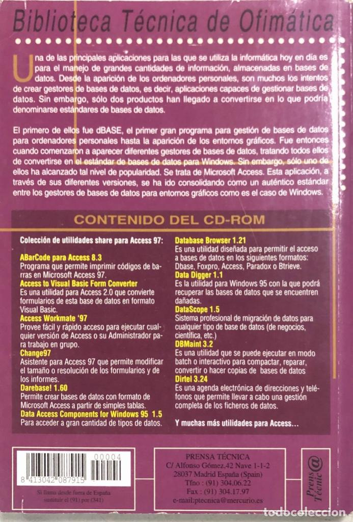 Libros de segunda mano: MICROSOFT ACCESS 97/98 SIN CD ROOM. PAGS 182. ESPAÑA 1998. - Foto 3 - 158224746