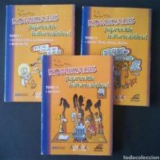 Libros de segunda mano: CTC - LA FAMILIA ROMERALES APRENDE INFORMATICA LOTE 3 TOMOS 1 + 2 + 3. Lote 158561358
