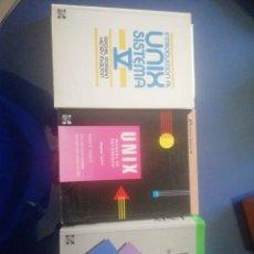 Libros de segunda mano: UNIX V 3 LIBROS. Lote 160799790