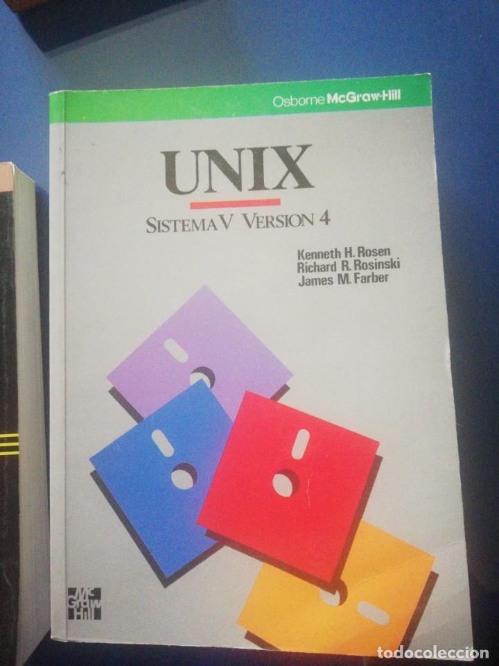 Libros de segunda mano: UNIX V 3 LIBROS - Foto 4 - 160799790