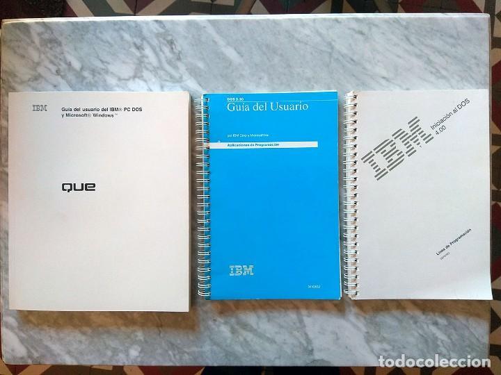 LOTE 3 MANUALES: GUÍA DEL USUARIO IBM PC DOS, DOS 3.30 GUÍA DEL USUARIO, INICIACIÓN AL DOS 4.00 (Libros de Segunda Mano - Informática)