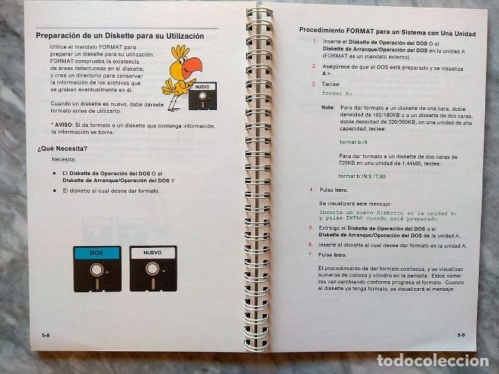 Libros de segunda mano: Lote 3 manuales: Guía del usuario IBM PC DOS, DOS 3.30 Guía del usuario, Iniciación al DOS 4.00 - Foto 9 - 162342910