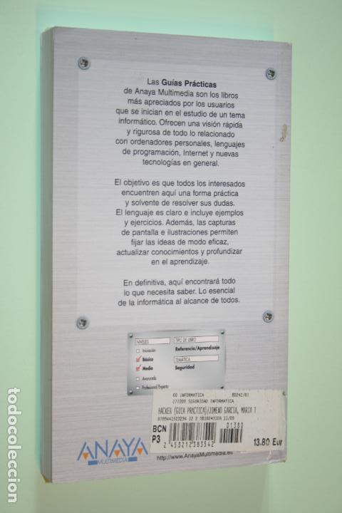 Libros de segunda mano: HACKER *** LIBRO SEGURIDAD INFORMÁTICA *** GUÍA PRÁCTICA *** ANAYA (2009) - Foto 2 - 163077418