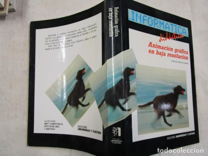 ANIMACION GRAFICA EN BAJA RESOLUCION - FRANCISCO MORALES - EDI UNIVERSIDAD Y CULTURA 1989 289PAG 1S (Libros de Segunda Mano - Informática)