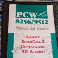 Libros de segunda mano: AMSTRAD PCW 8256/9512 MANUAL DEL USUARIO (AMSFILE, SUPERCALC 2, CONTABILIDAD, 3D AJEDREZ ) 1988. Lote 167010128