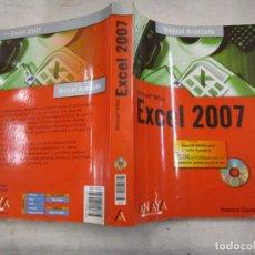 Libros de segunda mano: INFORMATICA - MICROSOFT OFFICE EXCEL 2007 - F. CHARTE OJEDA - EDI ANAYA 2007, INC CD + INFO 1S. Lote 167555496
