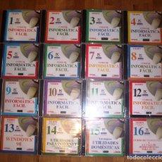 Livres d'occasion: CURSO DE INFORMÁTICA FÁCIL (16 CD-ROM). - SALVAT MULTIMEDIA : PC PARA TODOS : TIEMPO : COMPAQ. Lote 168211484