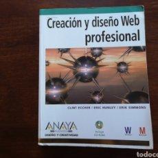 Livros em segunda mão: CREACIÓN Y DISEÑO WEB PROFESIONAL DE ANAYA MULTIMEDIA. Lote 168500229