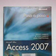 Libros de segunda mano: MICROSOFT ACCESS 2007 PASO A PASO STEVE LAMBERT ANAYA. INCLUYE CD. DEBIBL. Lote 169629960