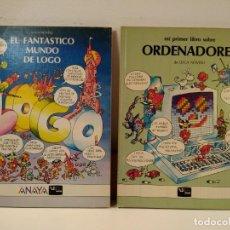 Libros de segunda mano: EL FANTÁSTICO MUNDO DE LOGO / MI PRIMER LIBRO SOBRE ORDENADORES. NOVELLI, LUCA. E. ANAYA, 1986.. Lote 169930772