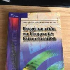 Libros de segunda mano: PROGRAMACION EN LENGUAJES ESTRUCTURADOS. ENRIQUE QUERO CATALINA.. Lote 170928975
