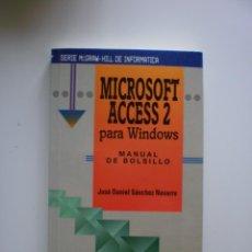 Libros de segunda mano: MICROSOFT ACCESS 2 PARA WINDOWS. Lote 171181022