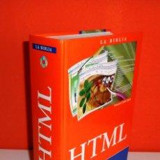 Libri di seconda mano: HTML. LA BIBLIA. LIBRO + CD. FRANCISCO CHARTE OJEDA. ANAYA MULTIMEDIA. (2005). Lote 171680717