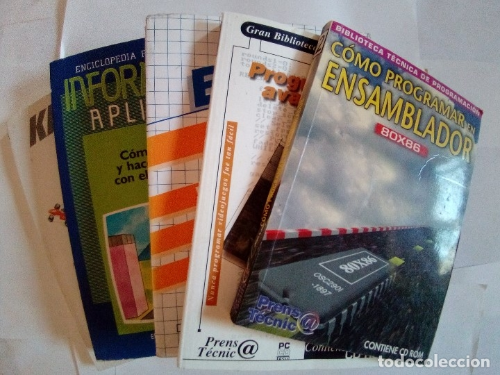 LOTE 5 LIBROS DE INFORMATICA VER FOTOS (Libros de Segunda Mano - Informática)