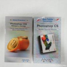 Libros de segunda mano: 2 LIBROS PHOTOSHOP CS Y CS5 GUIA PRÁCTICA PARA USUARIOS - ANAYA. Lote 173814530