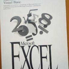Libros de segunda mano: MANUAL DEL USUARIO DE VISUAL BASIC. MICROSOFT EXCEL. VERSION 5.0. - VV.AA.. Lote 173726470