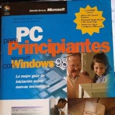 Libros de segunda mano: PC PARA PRINCIPIANTES CON MICROSOFT WINDOWS 98 + CD. - WOODCOCK, JOANNE.. Lote 173753759