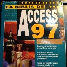Libros de segunda mano: LA BIBLIA DE ACCESS 97. - SIMPON/OLSON, ALAN/ELIZABETH.. Lote 173744695