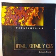 Libros de segunda mano: PROGRAMACIÓN HTML, XHTML Y CSS. ELIZABETH CASTRO. Lote 175470273