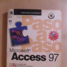 Libros de segunda mano: ACCESS 97 - CURSO OFICIAL MICROSOFT - MCGRAW HILL - 1997 * INCLUYE DISQUETE. Lote 175852603