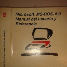 Libros de segunda mano: MICROSOFT MS-DOS 5.0 MANUAL DE USUARIO Y REFERENCIA 1991 MICROSOFT CORPORATION MEMOREX TELEX. Lote 177702963