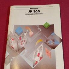 Libros de segunda mano: MANUAL DE INSTRUCCIONES IMPRESORA JP 360 OLIVETTI 1994. Lote 179138168