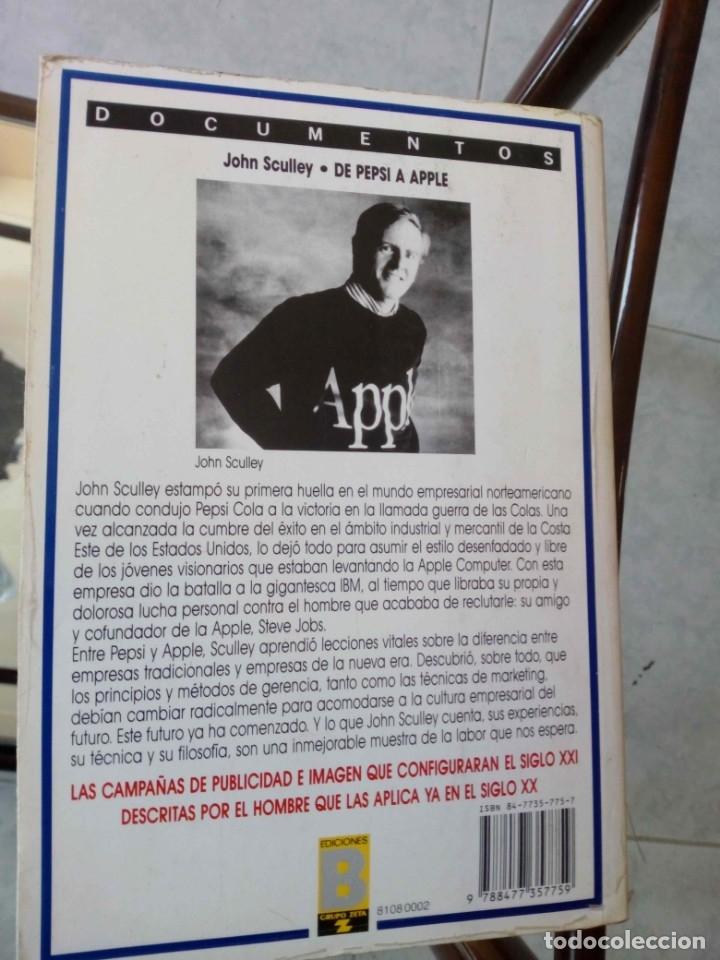 Libros de segunda mano: De Pepsi a Apple. John Sculley - Foto 2 - 179497512