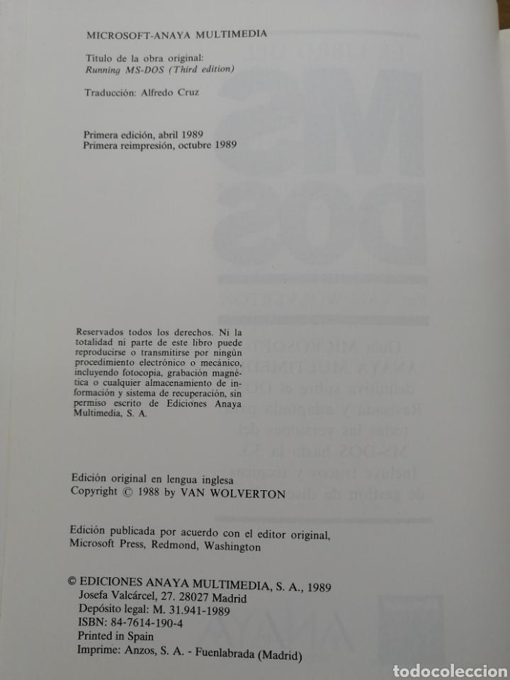 Libros de segunda mano: EL LIBRO DEL MSDOS - VAN WOLVERTON- - Foto 3 - 180114263