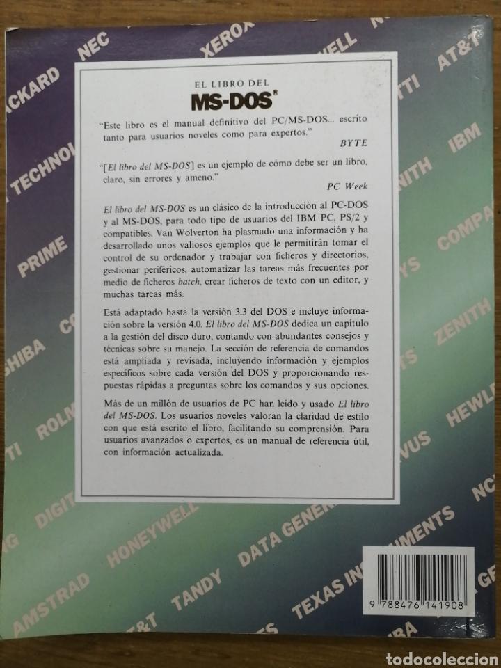Libros de segunda mano: EL LIBRO DEL MSDOS - VAN WOLVERTON- - Foto 4 - 180114263