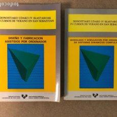 Libros de segunda mano: DISEÑO Y FABRICACIÓN ASISTIDOS POR ORDENADOR Y MODELADO Y SIMULACIÓN POR ORDENADOR. Lote 182126573