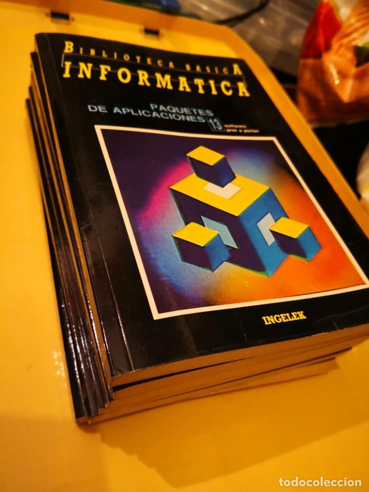 LOTE DE LIBROS BIBLIOTECA BÁSICA INFORMÁTICA NÚMEROS 13 14 15 16 17 Y 19-ENVÍO CERTIFICADO 6,99 (Libros de Segunda Mano - Informática)