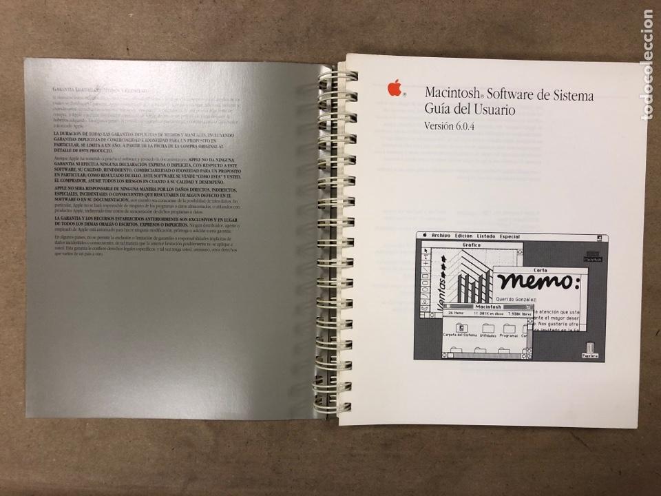 Libros de segunda mano: MACINTOSH SOFTWARE DE SISTEMA VERSIÓN 6.0.4 GUÍA DEL USUARIO. APPLE COMPUTER 1989 - Foto 2 - 182329213