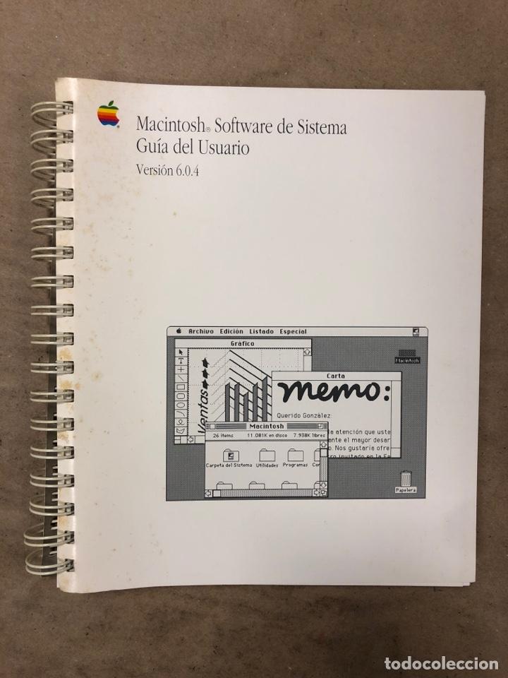MACINTOSH SOFTWARE DE SISTEMA VERSIÓN 6.0.4 GUÍA DEL USUARIO. APPLE COMPUTER 1989 (Libros de Segunda Mano - Informática)