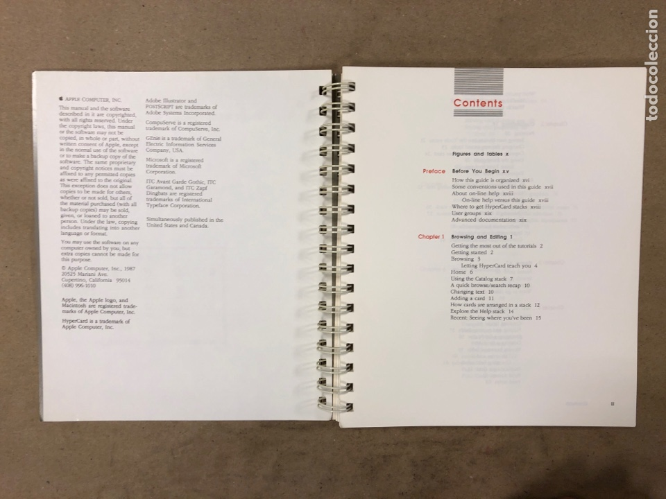 Libros de segunda mano: APPLE MACINTOSH HYPERCARD USER'S GUIDE. APPLE COMPUTER 1987. EN INGLÉS. 217 PÁGINAS. ILUSTRADO. - Foto 3 - 182329450