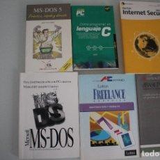 Libros de segunda mano: 6 LIBROS DE INFORMATICA. Lote 182352608