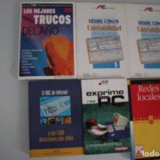 Libros de segunda mano: 6 LIBROS DE INFORMATICA. Lote 182352660