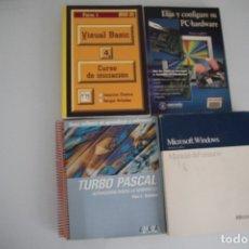 Libros de segunda mano: 4 LIBROS DE INFORMATICA. Lote 182375783