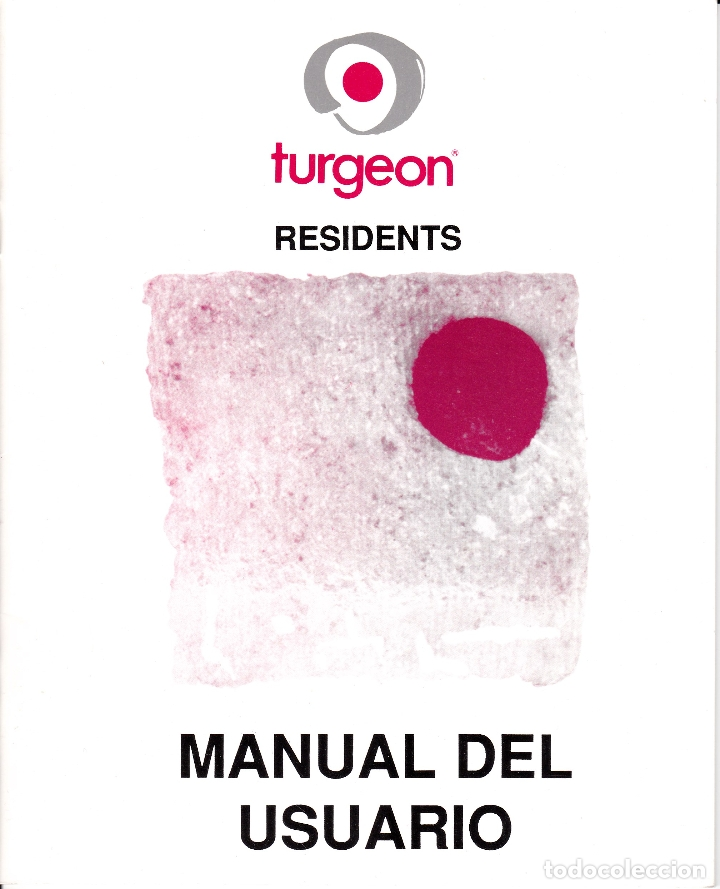 TURGEON RESIDENTS - MANUAL DE USUARIO - MSDOS (Libros de Segunda Mano - Informática)