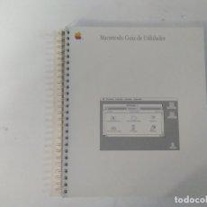 Libros de segunda mano: MACINTOSH - GUÍA DE UTILIDADES - APPLE COMPUTER INC.. Lote 183086927