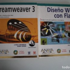 Libros de segunda mano: DISEÑO WEB CON FLASH - DREAMWEAVER 3 ANAYA. Lote 183603482