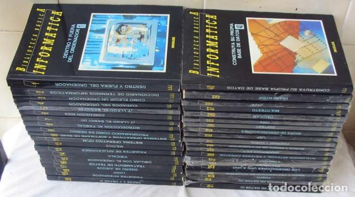 BIBLIOTECA BÁSICA INFORMÁTICA 40 TOMOS COMPLETA - INGELEK 1986 -MÁS DE 5000 PÁGINAS VER DESCRIPCIÓN (Libros de Segunda Mano - Informática)