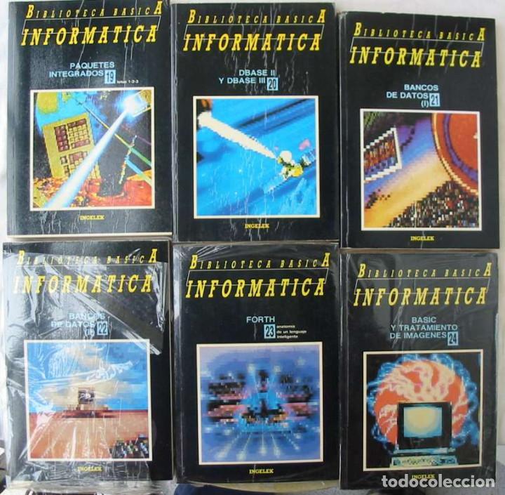 Libros de segunda mano: BIBLIOTECA BÁSICA INFORMÁTICA 40 TOMOS COMPLETA - INGELEK 1986 -MÁS DE 5000 PÁGINAS VER DESCRIPCIÓN - Foto 5 - 183828340