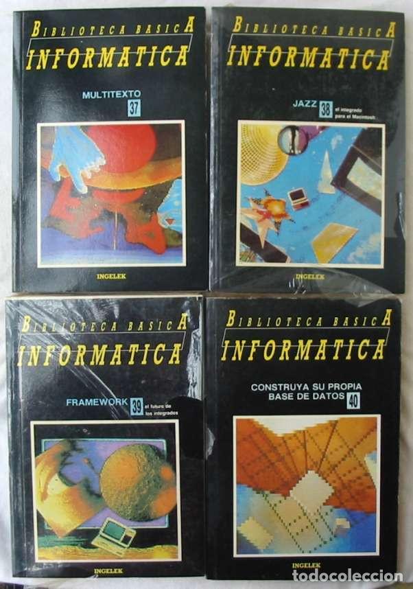Libros de segunda mano: BIBLIOTECA BÁSICA INFORMÁTICA 40 TOMOS COMPLETA - INGELEK 1986 -MÁS DE 5000 PÁGINAS VER DESCRIPCIÓN - Foto 8 - 183828340