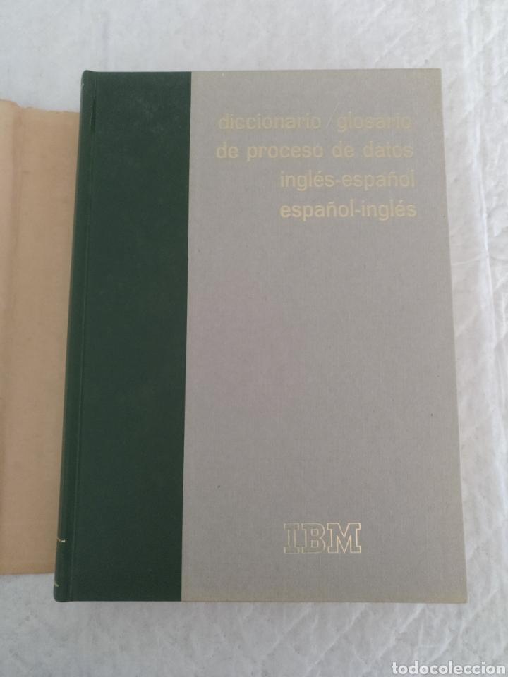 Libros de segunda mano: Diccionario / glosario de proceso de datos inglés - español IBM + hoja de propuesta. Libro - Foto 2 - 183838466