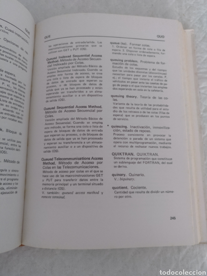 Libros de segunda mano: Diccionario / glosario de proceso de datos inglés - español IBM + hoja de propuesta. Libro - Foto 5 - 183838466