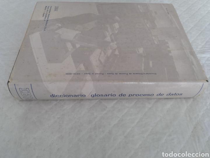 Libros de segunda mano: Diccionario / glosario de proceso de datos inglés - español IBM + hoja de propuesta. Libro - Foto 8 - 183838466