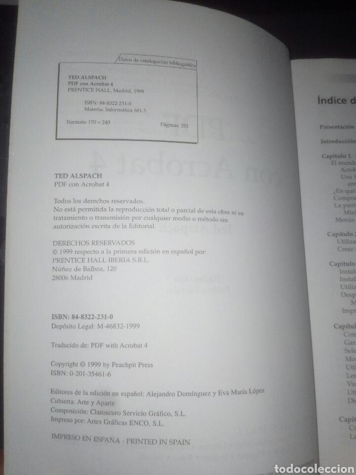 Libros de segunda mano: PDF con Adobe Acrobat 4 Prentice Hall Windows y Macintosh Ted Alspach - Foto 3 - 183857862